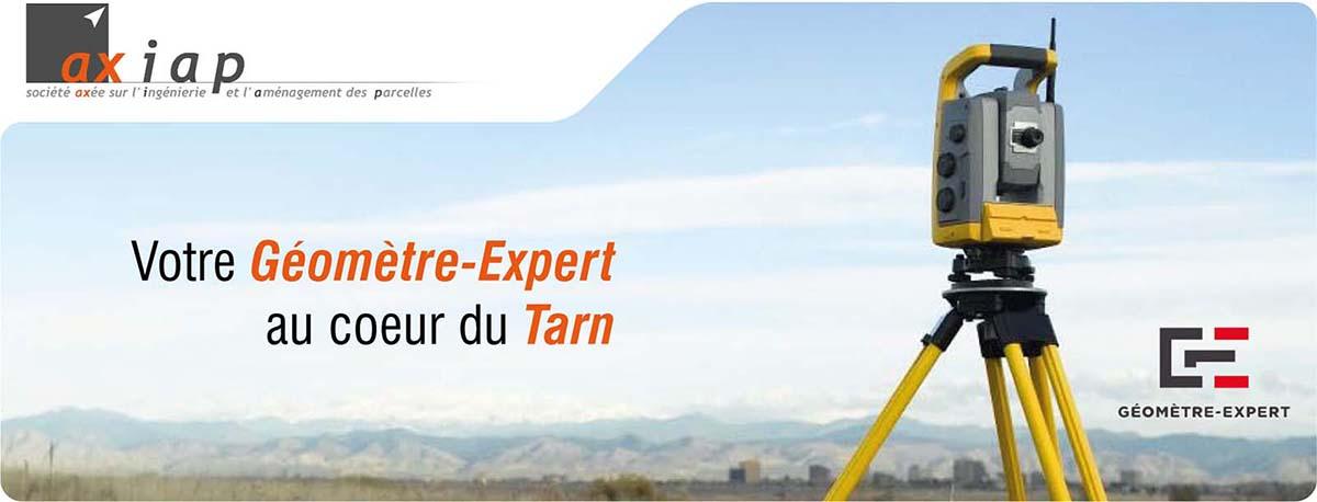 AXIAP Geometre expert dans le Tarn vous propose les prestations de bornage, copropriété, relevé d'intérieur, lotissement